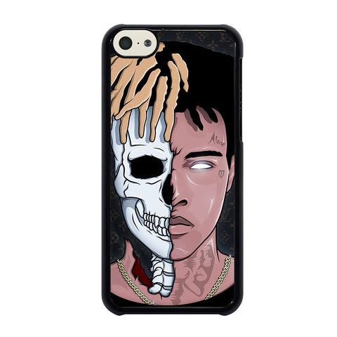 XXXTENTACION SKUL FACE-iphone-5c-case-cover