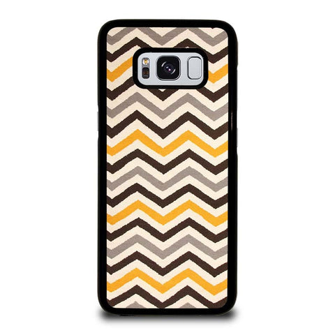 YELLOW-BROWN-CHEVRON-PATTERN-samsung-galaxy-S8-case-cover