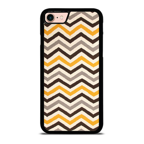 YELLOW-BROWN-CHEVRON-PATTERN-iphone-8-case-cover