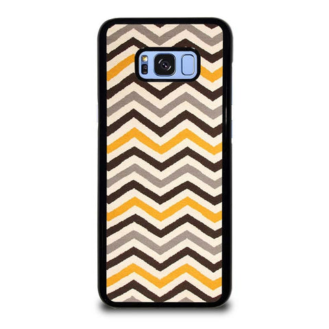 YELLOW-BROWN-CHEVRON-PATTERN-samsung-galaxy-S8-plus-case-cover