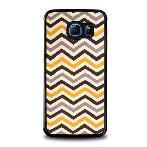 YELLOW-BROWN-CHEVRON-Pattern-samsung-galaxy-s6-edge-case-cover