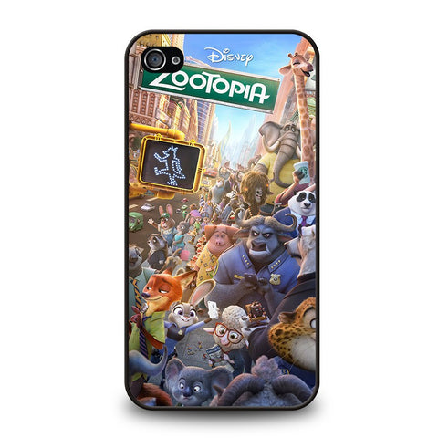 ZOOTOPIA-CHARACTERS-Disney-iphone-4-4s-case-cover