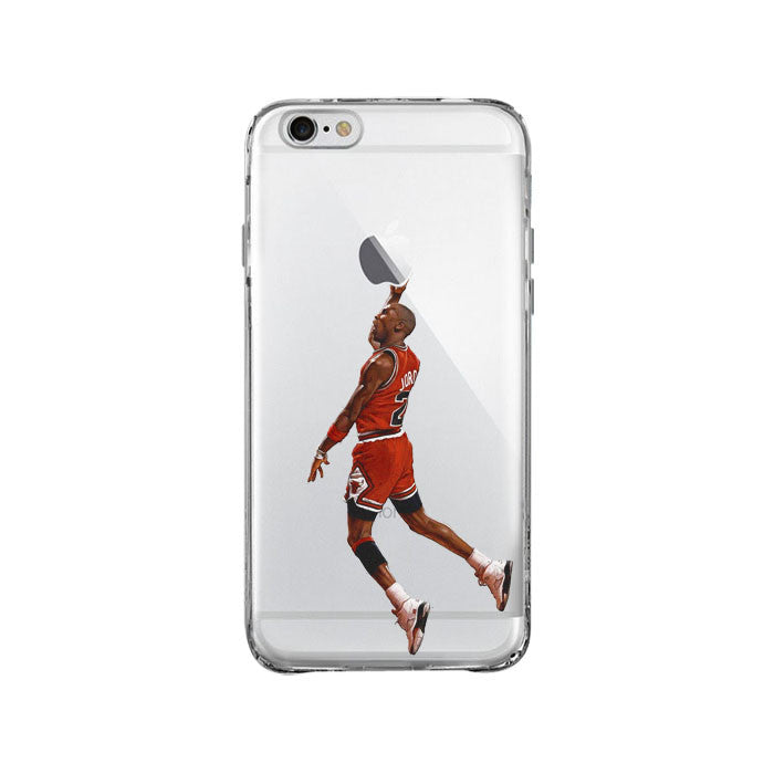 Michael Jordan Dunk Iphone Samsung Galaxy Clear Case