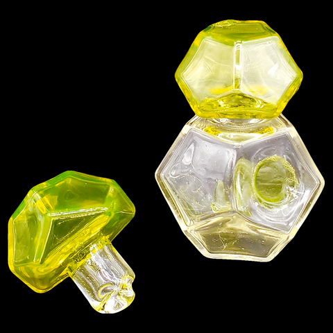 Kuhns Glass - Geo Traveler (Citron + Luna)