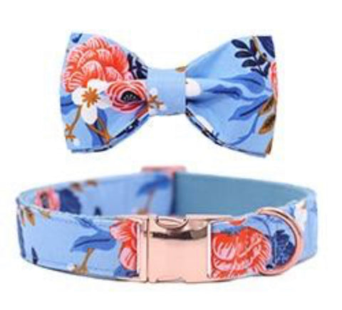 Designer Dog Collar & Bow Tie - Aus Pet Accessories