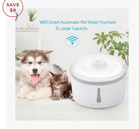 Aus Pet Accessories Smart Pet Cat Dog Water Fountain Feeder Fresh