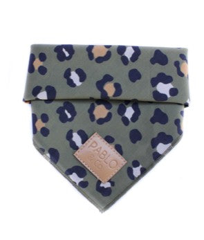 Pablo & Co - Dog Bandana - Khaki Leopard Print-Dog Bandana-Aus Pet Accessories