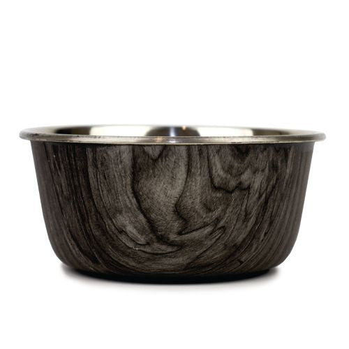 Barkley & Bella Stainless Steel Dog Bowl - Natural Driftwood-dog bowl-Aus Pet Accessories