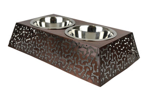 Fig Tree Elevated Double Pet Bowl By Barkley & Bella-raised dog bowl-Aus Pet Accessories