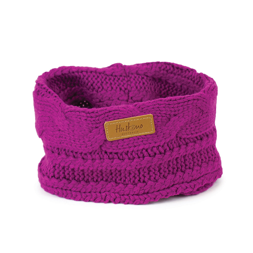 Huskimo Chunky Knit Dog Snood - Aurora-dog snood-Aus Pet Accessories