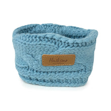 Load image into Gallery viewer, Huskimo Chunky Knit Dog Snood - Steel Blue-dog snood-Aus Pet Accessories