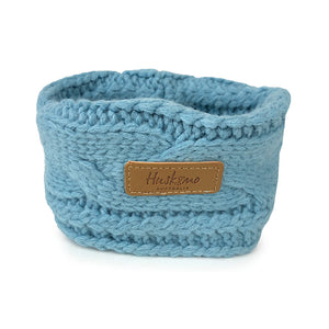 Huskimo Chunky Knit Dog Snood - Steel Blue-dog snood-Aus Pet Accessories