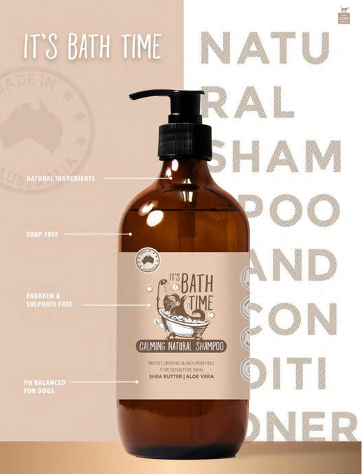 It's Bath Time - Natural Calming Pet Shampoo-dog shampoo-Aus Pet Accessories