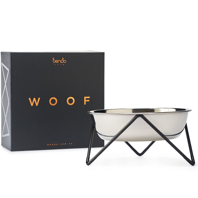 Elevated Dog Bowl - Bendo - Luxe Black-elevated dog bowl-Aus Pet Accessories