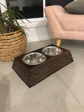 Load image into Gallery viewer, Filigree Elevated Double Dog Bowl By Barkley & Bella-raised dog bowl-Aus Pet Accessories
