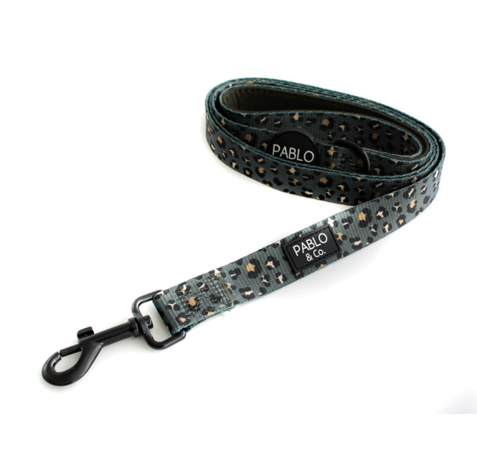 khaki Leopard Dog Leash - Pablo & Co-dog leash-Aus Pet Accessories