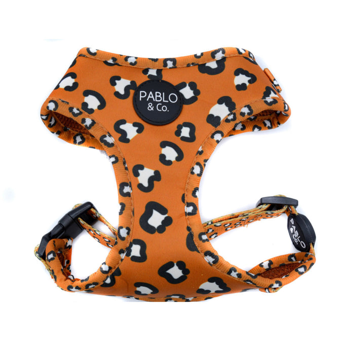 That Leopard Print - Adjustable Dog Harness - Pablo & Co-dog harness-Aus Pet Accessories
