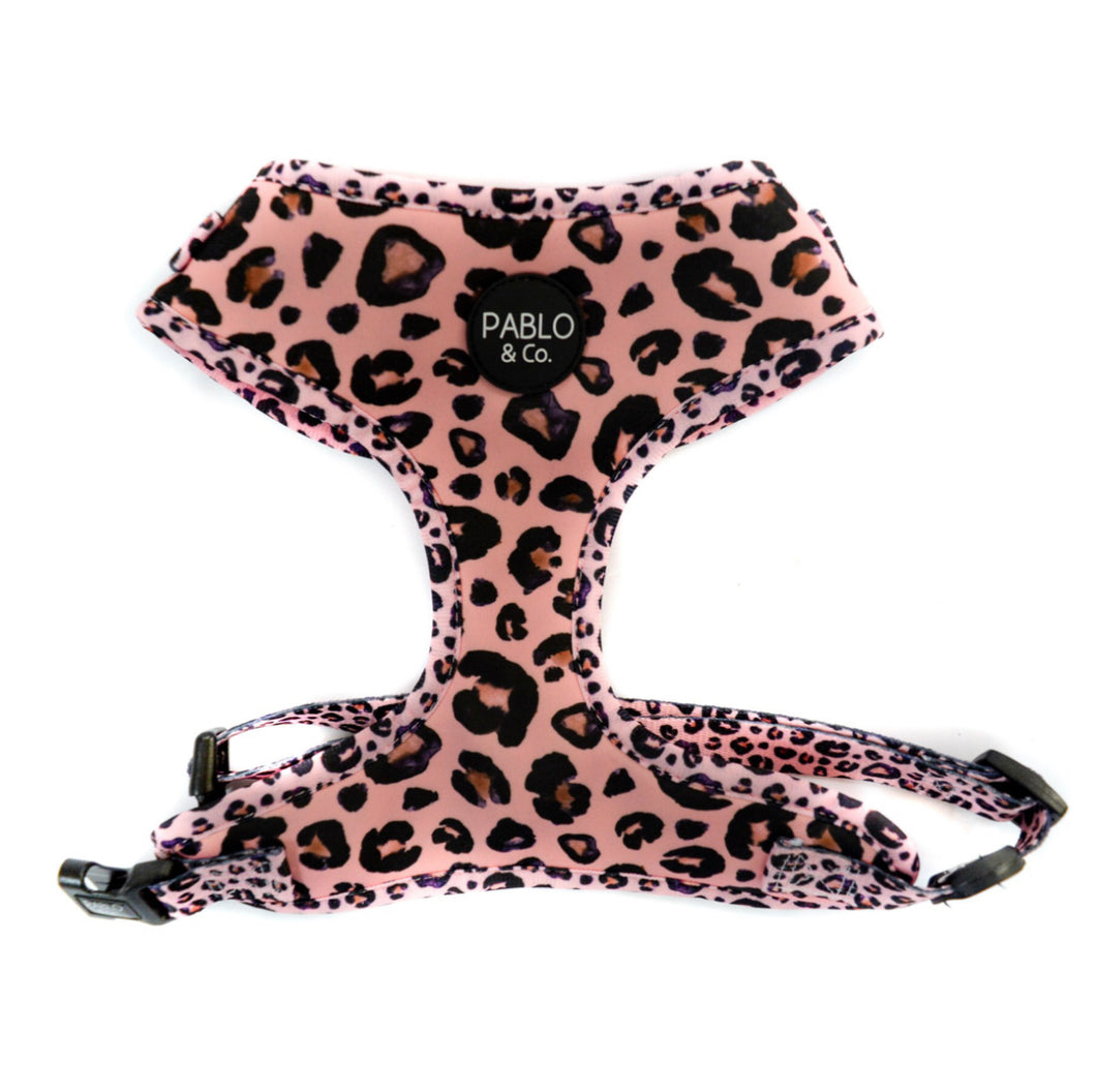 Pink Leopard Adjustable Dog Harness - Pablo & Co-dog Harness-Aus Pet Accessories
