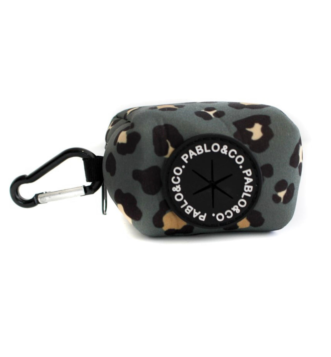 Khaki Leopard Print Poop Bag Holder-poop bag holder-Aus Pet Accessories