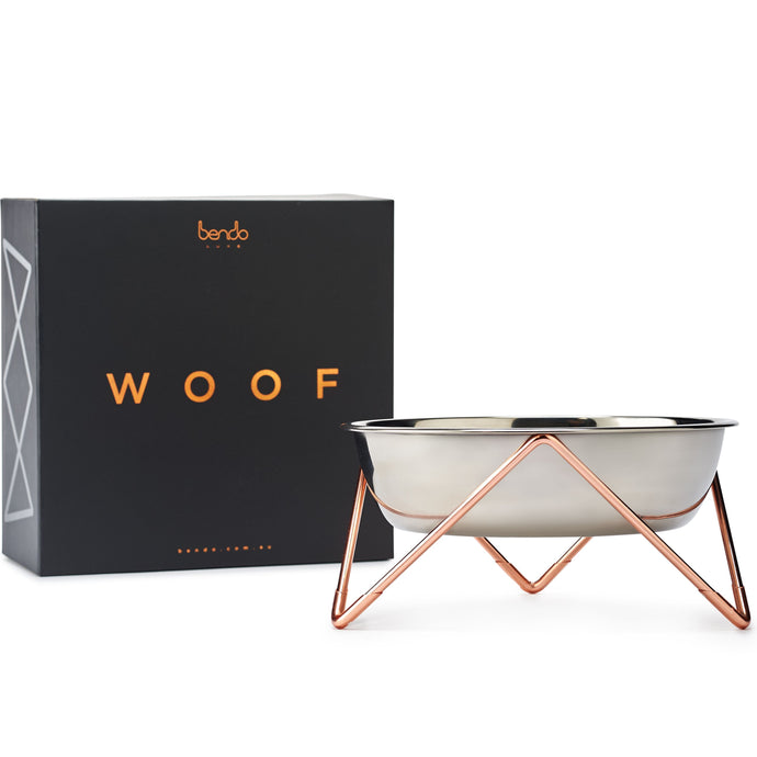 Elevated Dog Bowl - Bendo - Luxe Copper-elevated dog bowl-Aus Pet Accessories
