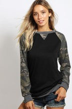 CAMOUFLAGE  CASUAL TOP