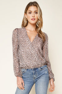 AFTER DARK PINK LEOPARD PRINT CROP TOP