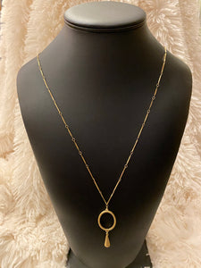 32 IN G BAR LINK W/SIL CIR& G WT NECKLACE