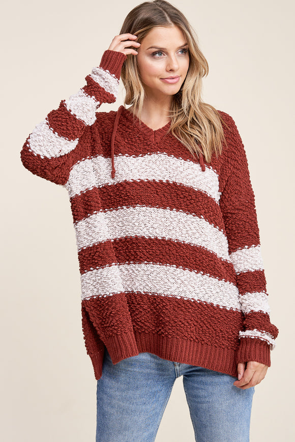 DRAW STRING NECK SWEATER
