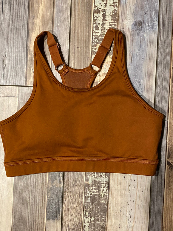 SOLID CUTOUT RACERBACK SPORTS BRA