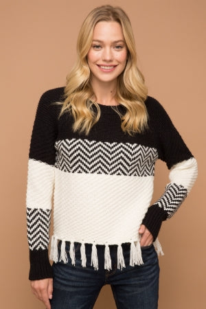 FRINGED SWEATER