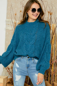 OCEAN BLUE COZY SWEATER