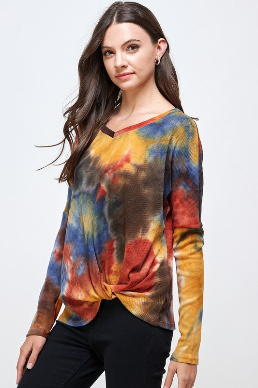 TIE DYE KNOTTED TOP