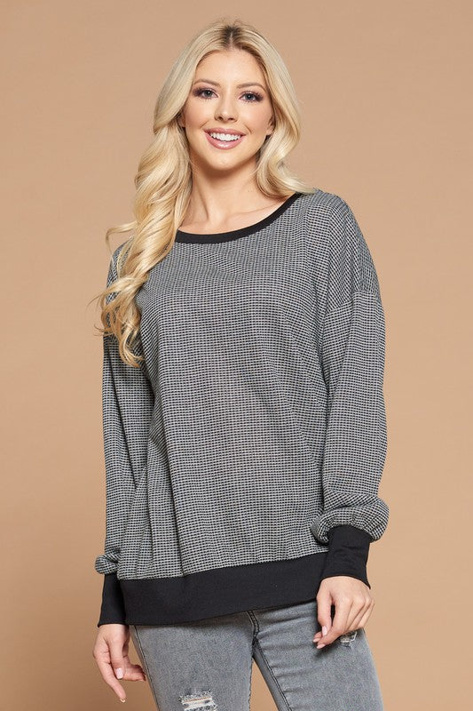 ZIP BACK SWEATSHIRT
