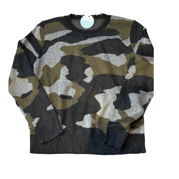 NOW YOU SEE ME CAMO SWEATER