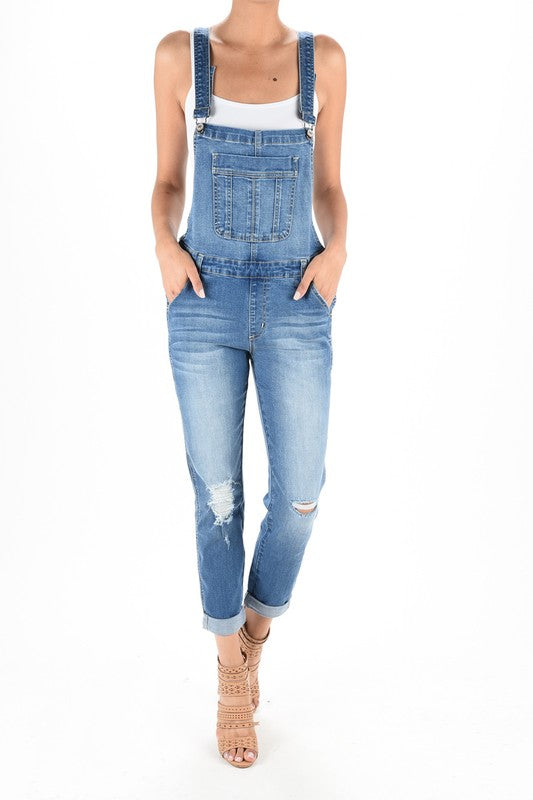 LONG DENIM OVERALLS