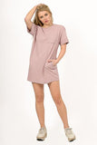 BASIC SHORT SLEEVE T-SHIRT TUNIC DRESS