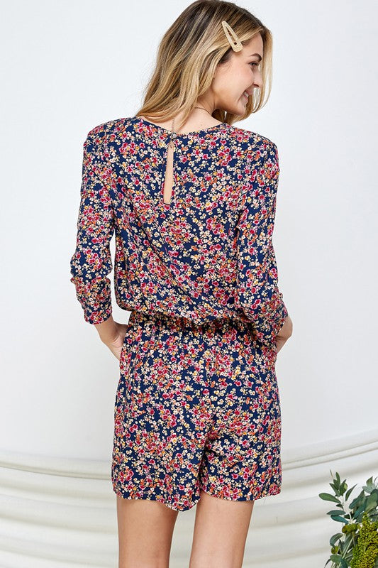 Sue Surplus Front Romper with Print