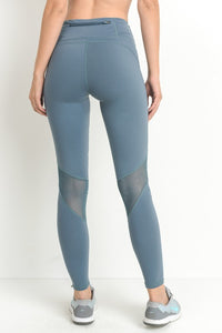 HIGHWAIST SLANTED CROSS-OVER MESH FULL LEGGINGS