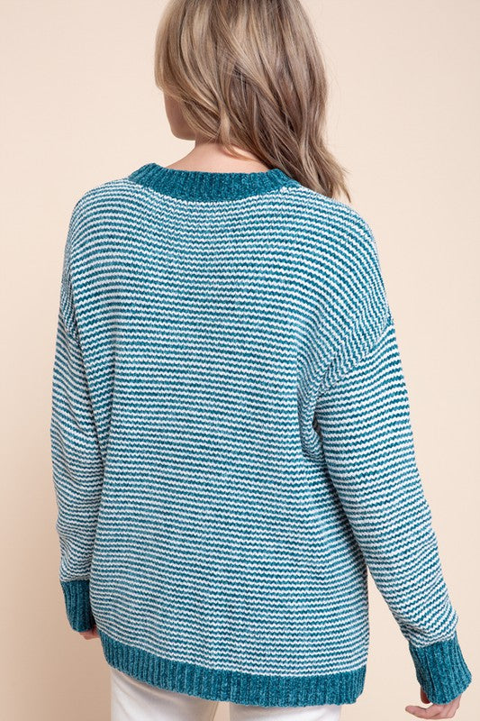 PIN STRIPED SWEATER