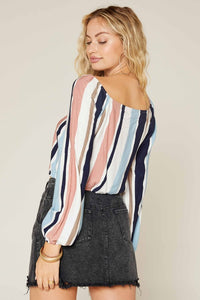 CHASING WATERFALS STRIPED TOP