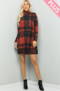 BUFFALO PLAID RED DRESS