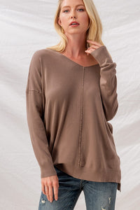 HIGH LOW TUNIC SWEATER