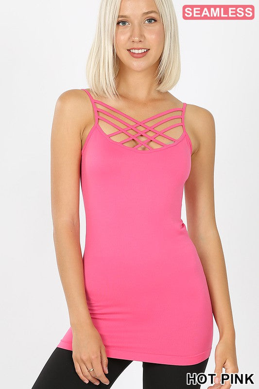 TRIPLE CRISS CROSS FRONT CAMI