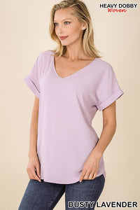 KATE SOLID CHIFFON BLOUSE