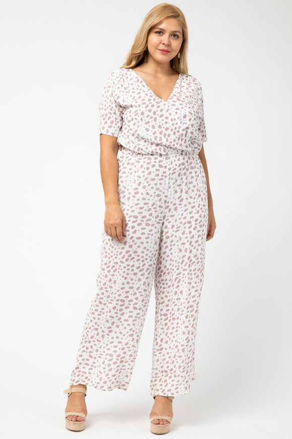 SPOTTED PRINT JUMPSUIT