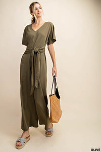 WAIST TIED JUMPSUIT