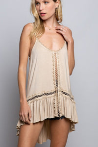 High Low Adjustable Cami Top
