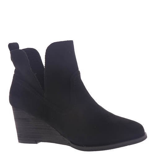 VERY G BLACK WEDGE BOOT