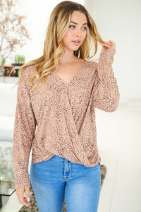 LS KNIT PRINT TOP