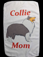Collie Mom Rally Towels (Rough Blue Merle)